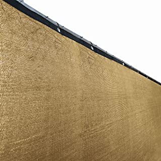 ALEKO PLK0625BEIGE Fence Privacy Screen Outdoor Backyard Fencing Windscreen Shade Cover Mesh Fabric with Grommets 6 x 25 Feet Beige
