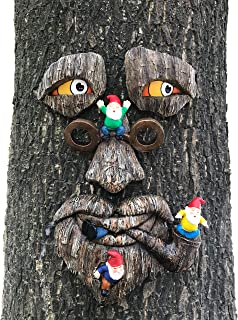 By Mark & Margot - Tree Face Garden Gnome Massacre - Best Art Décor for Indoor Outdoor Home Or Office (One Size, Tree Face Gnome Massacre)