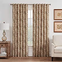 WAVERLY Lucchese Rod Pocket Single Panel Privacy Window Treatment Living Room, 52 in x 63 in, Giardino