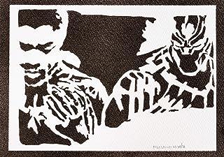 Poster Black Panther The Avengers Handmade Graffiti Street Art - Artwork