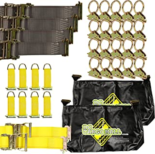 DC Cargo Mall E-Track TieDown Kit: 20 O Rings, 10 TieOffs, 6 Ratchet Straps, 2 ETrack Bags. Ideal TieDown Accessories Pack...