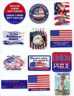 Union Hard Hat Sticker Mix 8 -- Show Your American Pride Mix