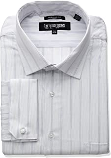 STACY ADAMS Men's Big-Tall Stripe Y.d. Dress Shirt