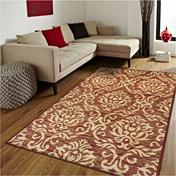 Amazon Com Superior Designer 2 6 X 8 Fleur Collection Rug Runner Gold Furniture Decor