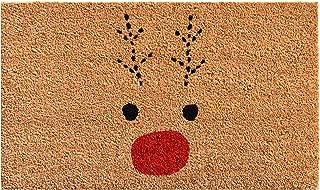 """Calloway Mills 105011729 Rudolph Doormat, 17"""" x 29"""", Red/Black"""
