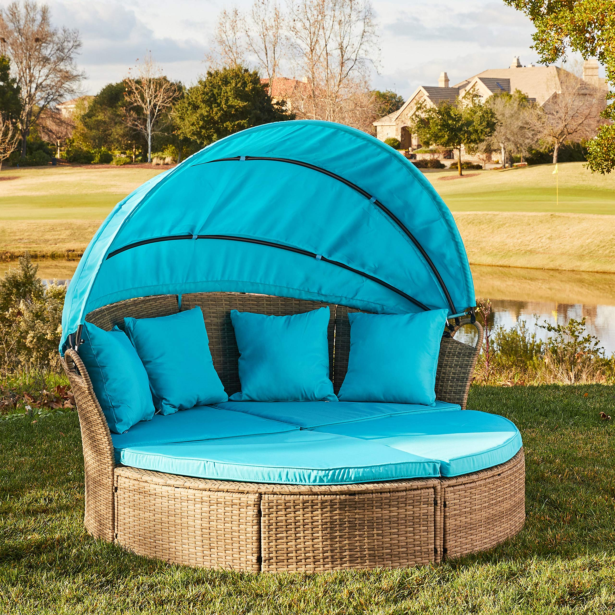 Furniture Wicker Rattan Outdoor Cushion