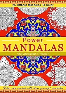 Power Mandalas Coloring book for adults, Spiral bound paperback, stress relieving intricate Offbeat mandalas for grown-ups