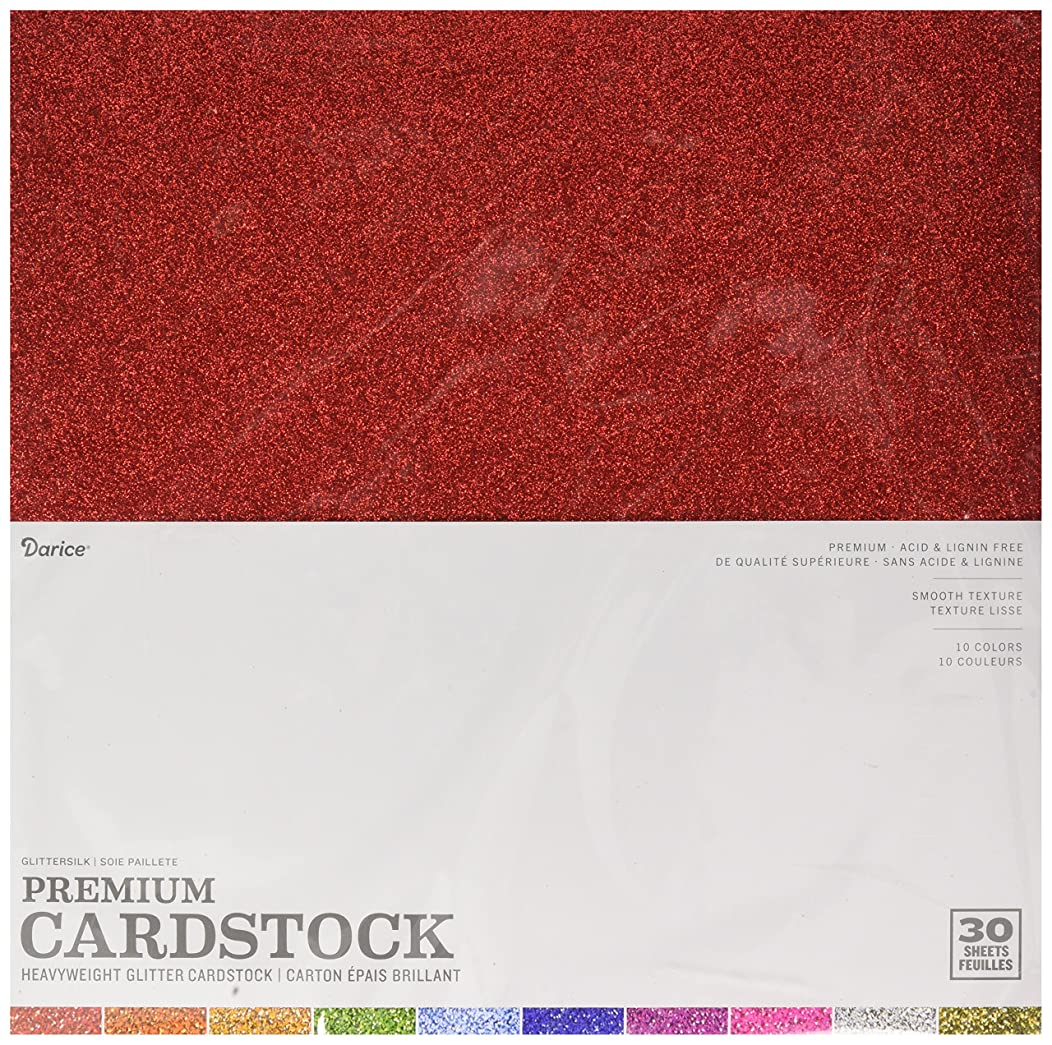 CORE'DINATIONS GX-1700-26 12 x 12 Card Stock Glitter Silk Assortment