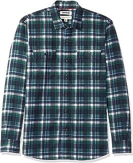 Amazon Brand - Goodthreads Men's Standard-Fit Long-Sleeve Plaid Twill Shirt
