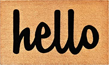 "Calloway Mills 100342436NBS Hello Doormat, 24"" x 36"", Natural/Black"
