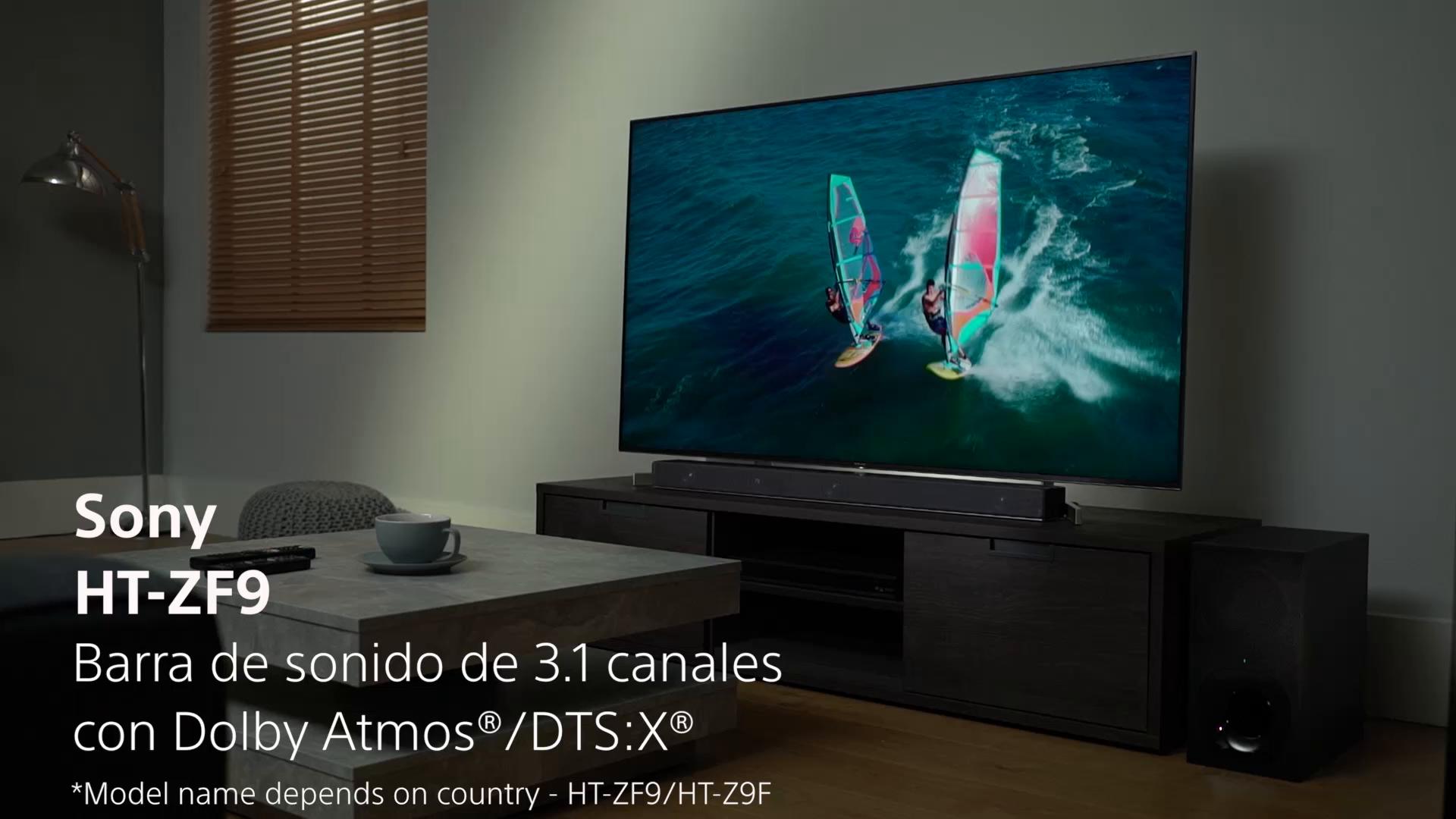 Sony HT-ZF9 - Barra de sonido 3.1 con Alexa Integrada (Dolby Atmos, DTS:X, HDMI, Bluetooth, Wi-Fi, compatible con 4K HDR, HDCP 2.2), color negro: Amazon.es: Electrónica