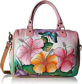 Zip Around Satchel Handbag - Genuine Leather