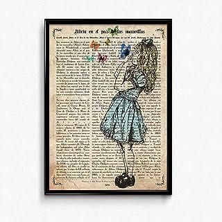 Nacnic Film pour l'Encadrement Alice avec Butterflies Feuilles pour l'Encadrement inoubliable Cadeau pour Un ami. 250?gram...