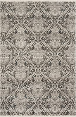 Safavieh Vintage Persian Collection VTP473F Traditional Oriental Distressed Area Rug, 8' x 10', Grey / Charcoal
