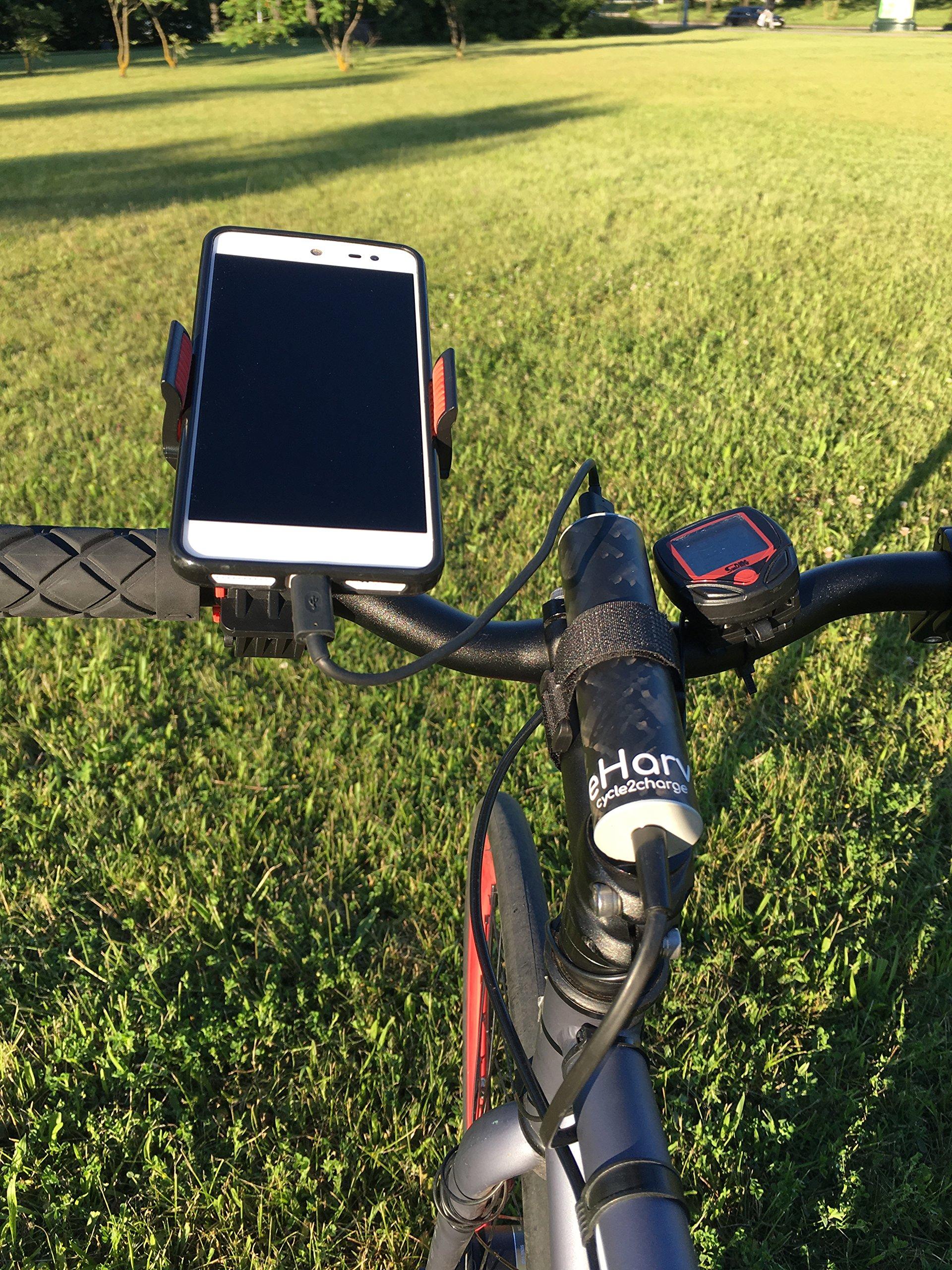eharv E1 Cargador – Cargador USB para bicicleta para dinamo ...