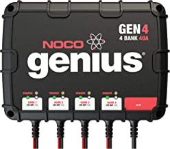 NOCO Genius GEN4, 4-Bank, 40-Amp (10-Amp Per Bank) Fully-Automatic Smart Marine Charger, 12V Onboard Battery Charger And B...