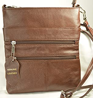 Camille ConcealsCindy Ambidextrous Draw Spacious Genuine Leather Concealed Carry Purse