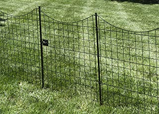 Zippity Outdoor Products WF29012 41In Tall Black Metal Garden Fence Gate