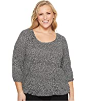 MICHAEL Michael Kors Plus Size Giraffe Scoop Neck Peasant Top