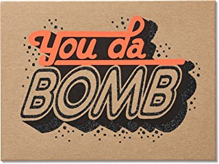 American Greetings You Da Bomb Blank Card with Glitter