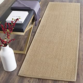 Safavieh Natural Fiber Collection NF141B Tiger Paw Weave Maize and Linen Sisal Area Rug (2' x 3')