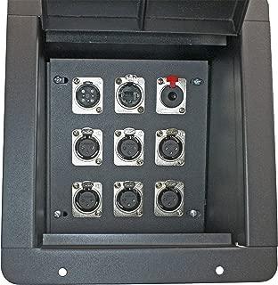 Pro Audio Recess Stage Floor Box Black (6-XLR Female + 1-XLR Male + 1 1/4