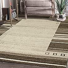 "Rugsville Yasmin Bordered Ivory Modern Carpet 5'3"" x 7'6"""