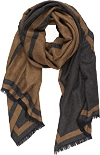 Scarf for Men Fall Winter Cashmere Touch Man Soft Elegant Classic Scarves