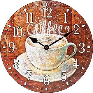 La Crosse Technology La Crosse 12 inch Round Coffee Décor Analog Wall Clock, Multi-Colored