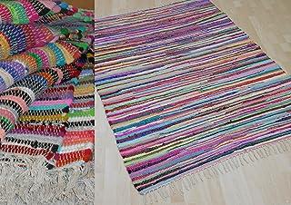 comprar comparacion MALMÖ - Alfombra de algodón para tejer a mano, varios tamaños disponibles, algodón, multicolor, ca. 60x110 cm