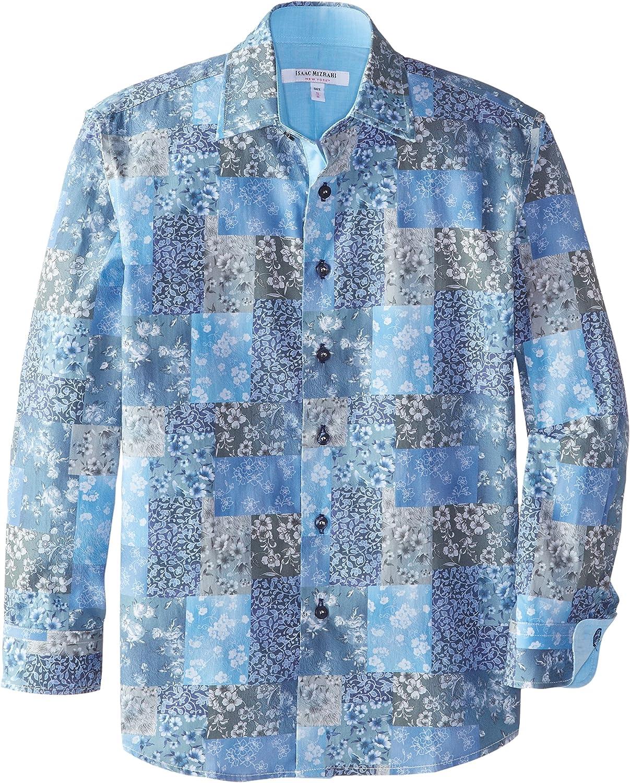 Isaac Mizrahi Big Boys' Boy's Two Tone Botanical Shirt