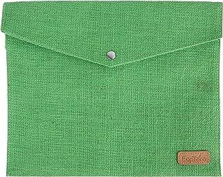 ECOTARA Go Natural Multipurpose Eco Friendly Everyday Use Button Closure Jute Envelopes (10 X 12.5 X 1-inch) -Green
