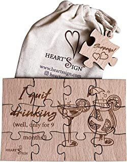 Heart's Sign Pregnancy Announcements Surprise Puzzle | Baby Reveal | Baby Announcement Gifts | Pregnancy Announcement For ...