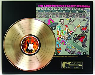 Chuck Berry Gold LP Record Reproduction Signature Series Limited Edition Display