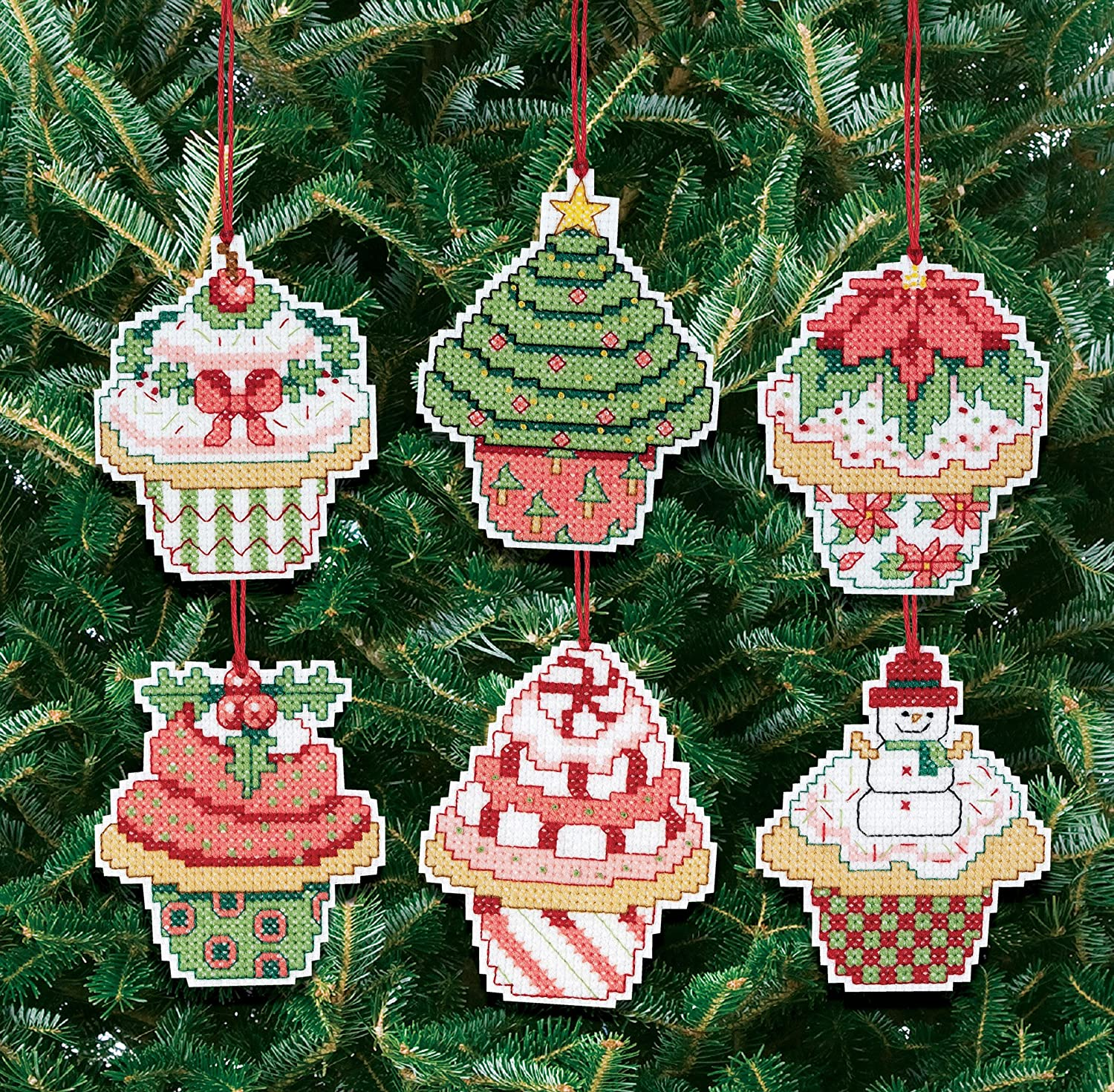 Janlynn 21-1390 Ranking TOP18 Christmas Cupcake Cheap Cross Counted Ornaments Stitch