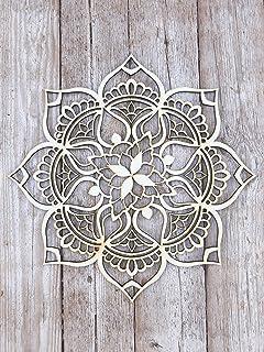 دکوراسیون چوب ماندالا ، هنر قبیله ای هند ، Bohemian Ethnic New Home Decor ، دکوراسیون اتاق نشیمن ، هدیه خانگی هندسی منحصر به فرد موروکان دست ساز مدرن موروکان