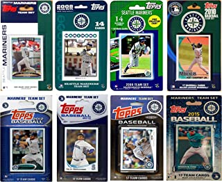 "MLB 西雅图水手 8 种不同的*交易卡队套装,4"" x 7"""