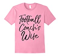Football Coach\\\'s Wife Shirt Vintage Proud Spouse Tee Light Pink