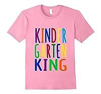 Kindergarten King Back To School Child's Shirts Light Pink