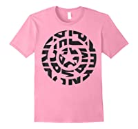 Marvel Captain America Shield Text Fill Logo T-shirt Light Pink