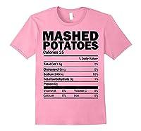 Mashed Potato Nutrition Funny Matching Christmas Costume Shirts Light Pink