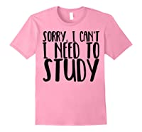 Funny Studying Shirt Finals Week College Student Study Gift Light Pink