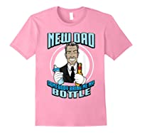 New Dad Someone Bring Me My Bottle Funny Beer Drinking Shirts Light Pink