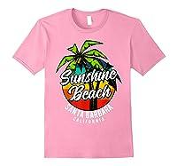 California Hawaii Surf Surfing Board Beach Vintage Retro Shirts Light Pink
