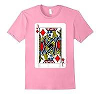 Jack Of Diamonds Playing Card Group Costume Poker Player T-shirt Light Pink