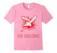 Done Damage Red Boston Championship Baseball Fan Awesome T-shirt Light Pink