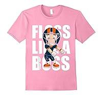 Floss Like A Boss Football Shirts Light Pink
