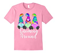 Gnoming Around 3 Hippie Gnomes Tie Dye Hat Retro Peace T-shirt Light Pink