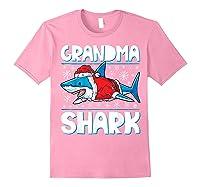 Grandma Shark Santa Christmas Family Matching S Shirts Light Pink