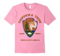 Chippewa Tribe Native American Indian Pride Respect Honor T-shirt Light Pink
